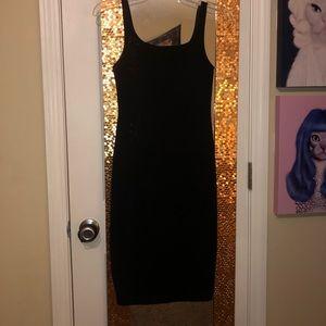 Black cotton body tight mid length beautiful dress